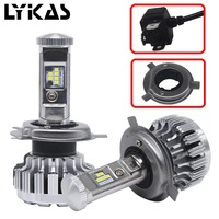 1Pair H4 Led Car Lights Bulb Lamp 9003 HB2 Hi Lo Car Headlights 8400LM 6000K 80W