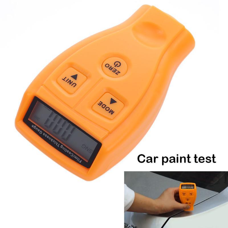 En inglés y ruso Manual GM200 revestimiento pintura medidor de espesor Tester de película Mini coche revestimiento de medida pintura de