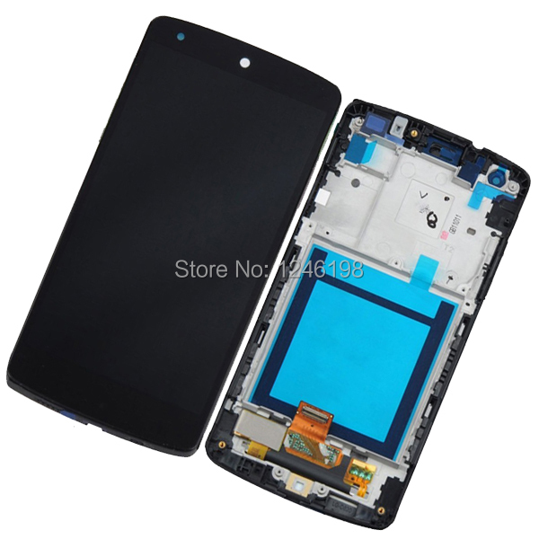 Black New Replacement Full LCD + Touch Screen Digitizer Assembly + Frame For LG Google Nexus 5 D820 D821 Free shipping for yamaha mt07 fz07 mt 07 fz 07 2014 2015 motorcycle cnc billet aluminum front fork cover caps free shipping