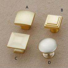 все цены на Brushed Brass Drawer Knob Dresser Pulls Knobs Kitchen Cabinet Handles Pulls Door Knobs Handles Cupboard Knobs Furniture Hardware онлайн