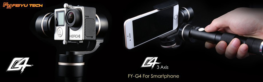 Feiyu Tech FY-G4 3-Axis Handheld smartphone Gimbal For iPhone 6  5  5C or related Size Cellphone
