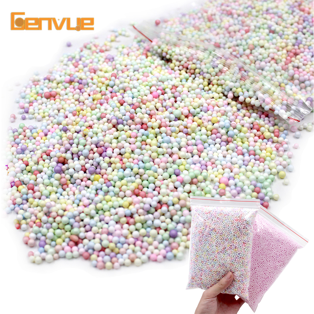 Big Bag Light Color Foam Beads Addition For Slime Fluffy Warm Color Snow Mud Particles Accessories Slime Charms Balls Supplies