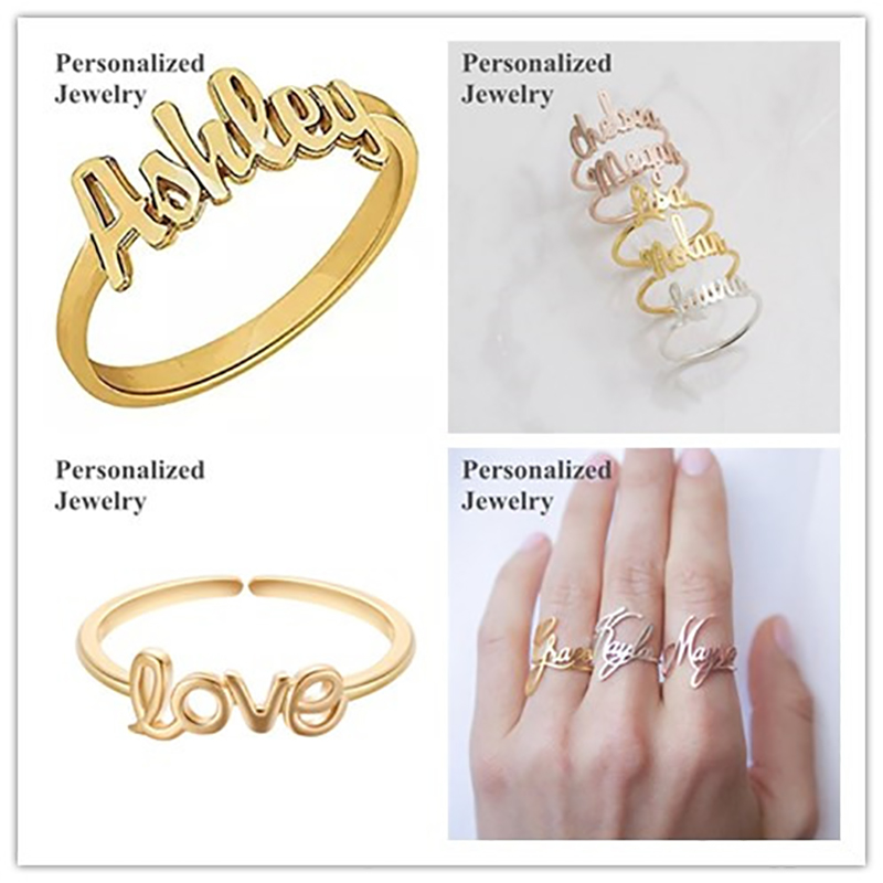 Gold Engagement Ring Designs For Couple With Name