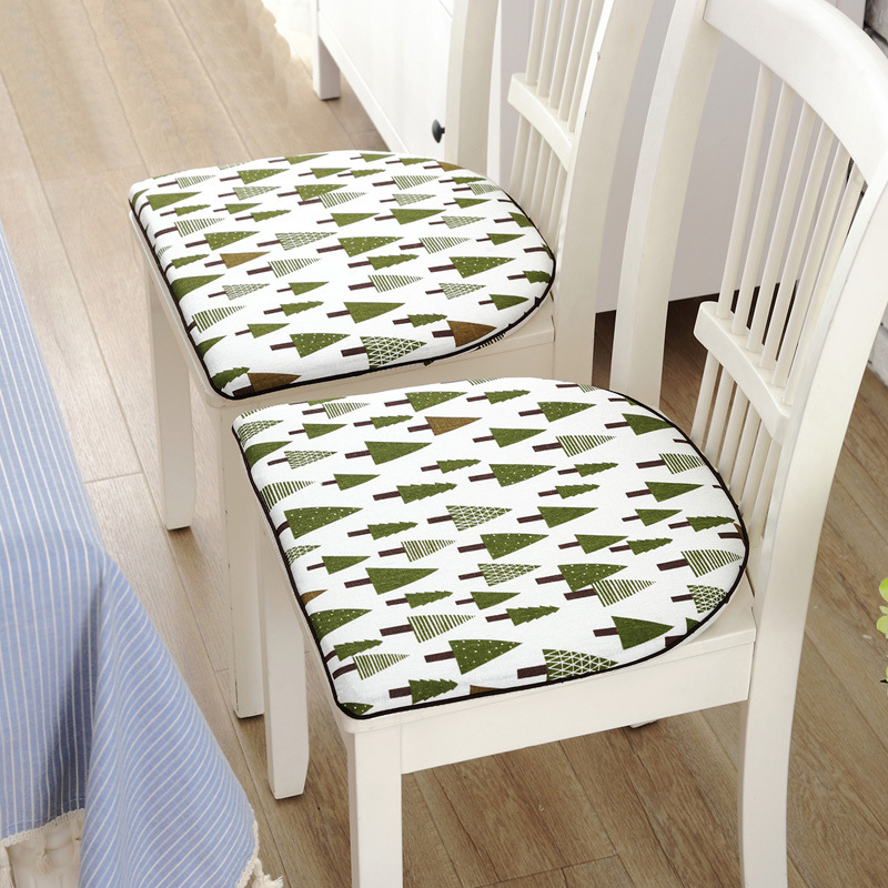 Pastoral Style Decorative Fresh Printed Taboret Seat Cushion Soft fortable Dining Chair Bar Stool Cushion Home