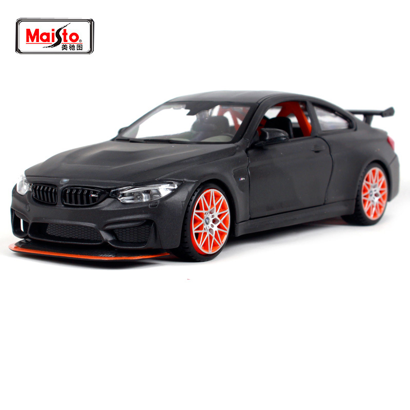 Maisto 1:24 M4 GTS A modified car Sports car White Diecast Model Car Toy New In Box Free Shipping 31246 New to orange стоимость