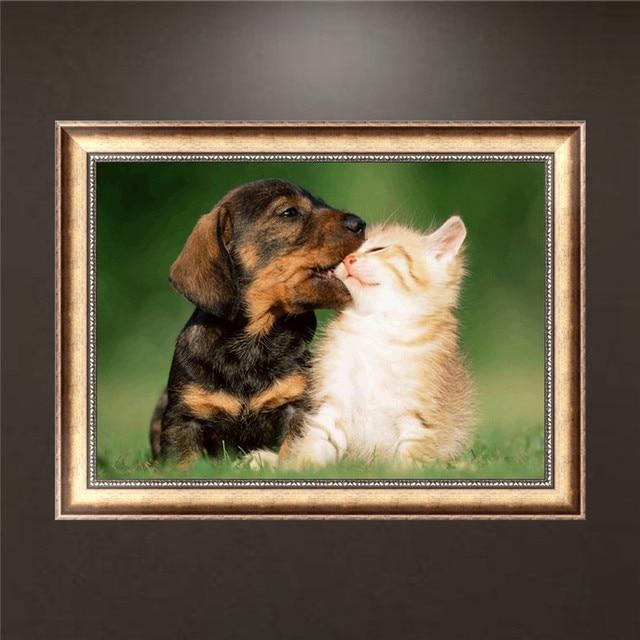 DIY Diamond Embroidery Painting, Cats & Dogs, 5D, Diamonds, Cross Stitch, Diamond Mosaics, Decorations, Christmas Gifts