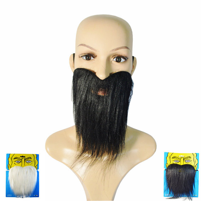halloween party dress black fake beards and mustaches black beard
