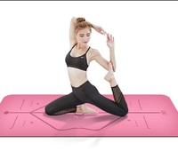 Absorb Sweat Position Line Natural Rubber Comfortable Non Slip Lose Weight Exercise Mat Fitness Yoga Mat Beginners Yoga Mat