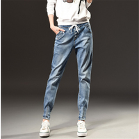 Autumn Winter Fashion High Waist Jeans Woman Large Size S 5XL Leisure Slim Elastic Waist Ladies
