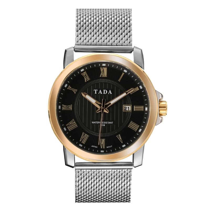 Hombres 3ATM Relojes analógicos de cuarzo de acero inoxidable a - Relojes para hombres