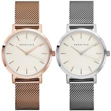 2019 New Arrival Women Watch Mesh Band Stainless Steel Analog Quartz Wristwatch Minimalist Lady Business Luxury Silver Watches