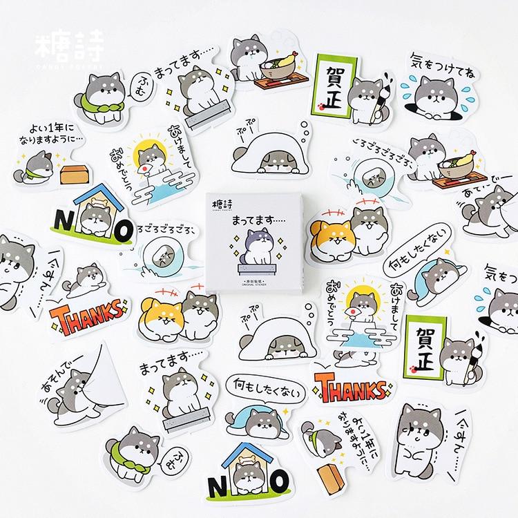 45 шт./кор. милый озорной Дневник для собак, бумажная этикетка, уплотнительные наклейки, декоративные поделки и скрапбукинги, Канцтовары DIY|Канцелярские наклейки|   | АлиЭкспресс