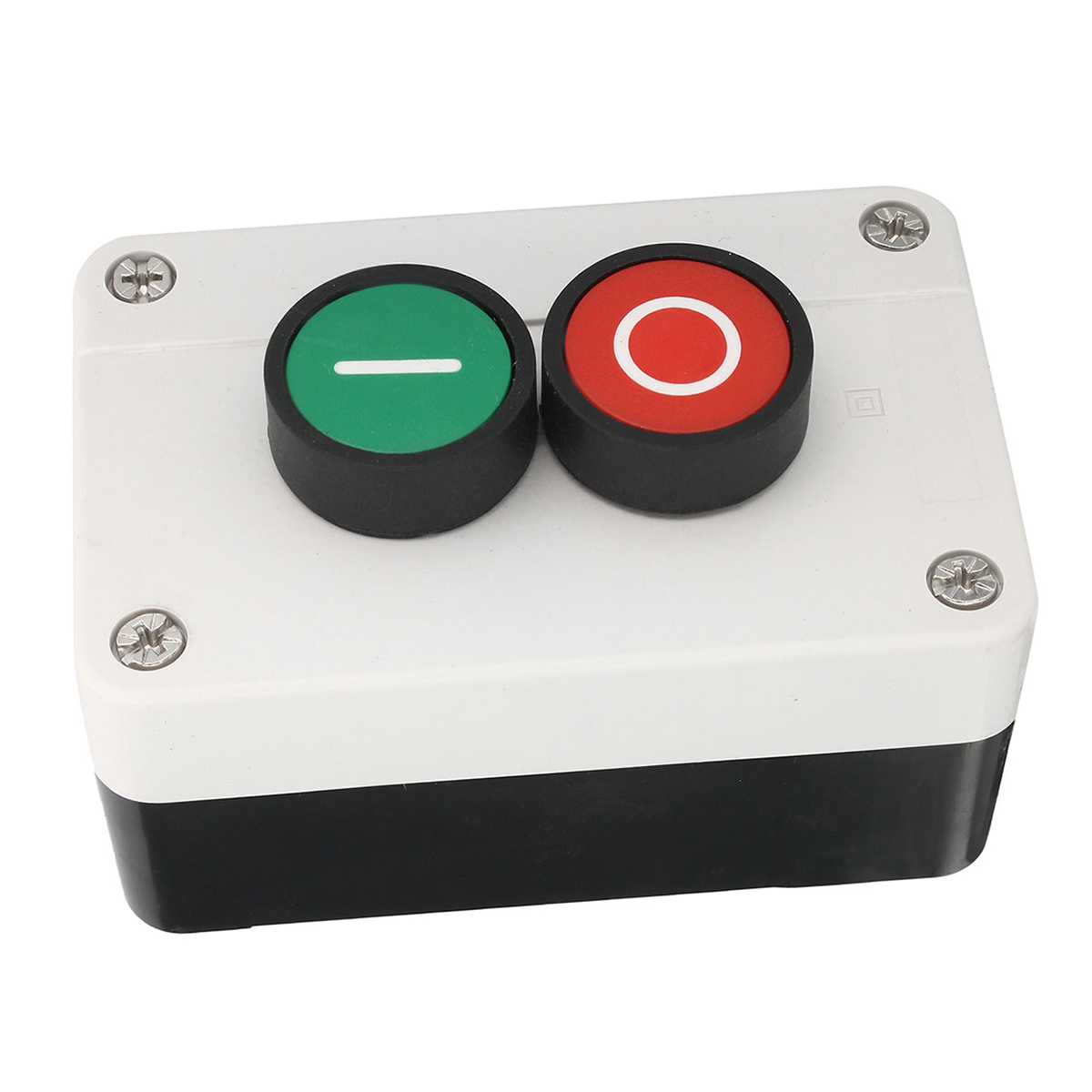 1pc Push Button Station Switch Plastic Enclosures Remote Start Stop Motor Solenoid IP55 Button Box Momentary Switch Mayitr on off start stop push button pushbutton switch 87x56mm with dust cover