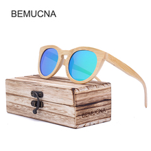2017 New BEMUCNA Cat Eye Wood Sunglasses Women Original Brand New Design Sun Glasses Female Vintage Eyewear UV400 oculos de sol