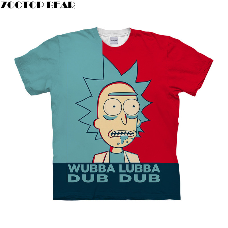 Splice Style Men T Shirt 3D Printed Quick Dry Male Shirts Anime rick and morty Fitness Tees Breathable Casual Style ZOOTOPBEAR