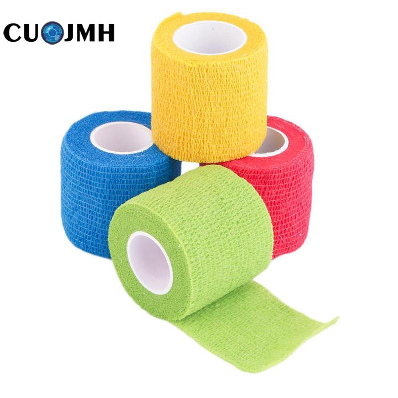 Security Protection Waterproof Self Adhesive Elastic Bandage 4.5m First Aid Kit Nonwoven Cohesive Tattoo Grip Bandage