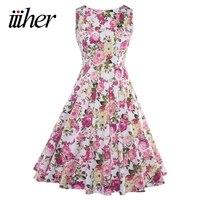 Audrey Hepburn Robe Retro Rockabilly Dress 2016 Jurken 60s Swing Floral Print Pin Up Vestidos Women