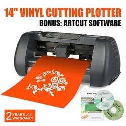 New 14 Vinyl Cutter Sign Cutting Plotter Machine W/ Artcut Software 375mm USB