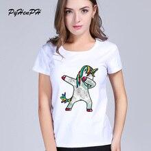 Unicorn T Shirt Women 2018 Funny Dabbing Women's T-shirt Unicornio Print Tshirt Tops Tumblr Casual Summer  Ladies Clothing Tees