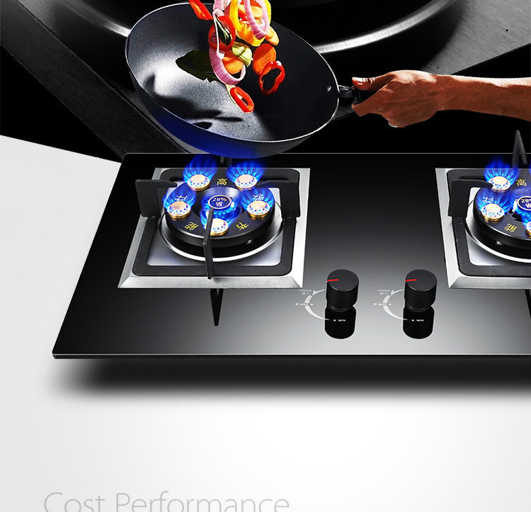 Household Gas Stove Double 6 Gas Stove Double Eye Stove Energy Conservation Fire Stove Embedded Dual Use