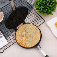Multifunctional DIY Crispy Egg Roll Ice Cream Cone Maker Waffles Mould Non Stick Aluminium Alloy Cake Baking Pan For Gas Stoves