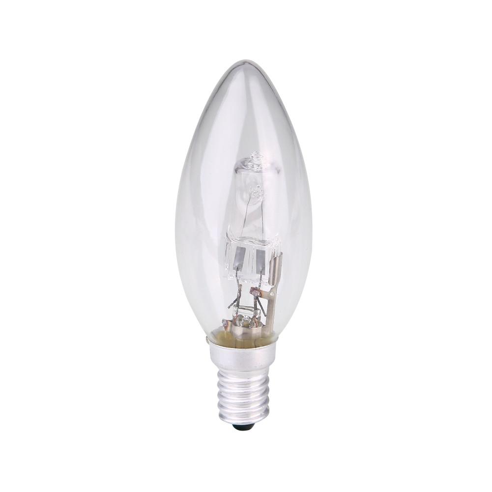 E14 Halogen Lamp Bulb Candle Shape AC 220V-240V Lighting Household Supplies