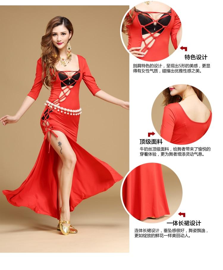 Pika lõhikuga seksikas kõhutantsu kleit