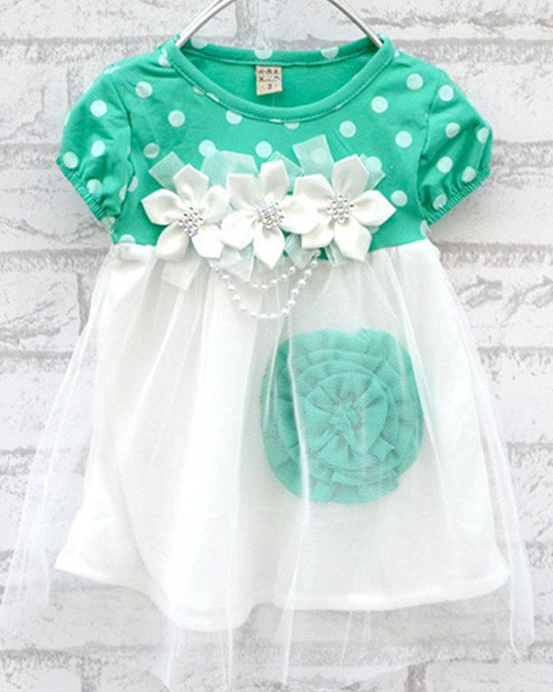 2017-High-Quality-9-24M-Girls-Princess-Polka-Dot-Floral-Dress-Summer-Hot-Sell-Baby-Girl-Dress-Kids-Clothing-1