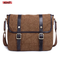 BJYL The new canvas men shoulder Messenger bag men' s computer package briefcase