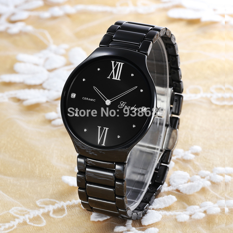 Grady watch men Christmas gift ultra thin ceramic Christmas Gift watches men luxury brand men s
