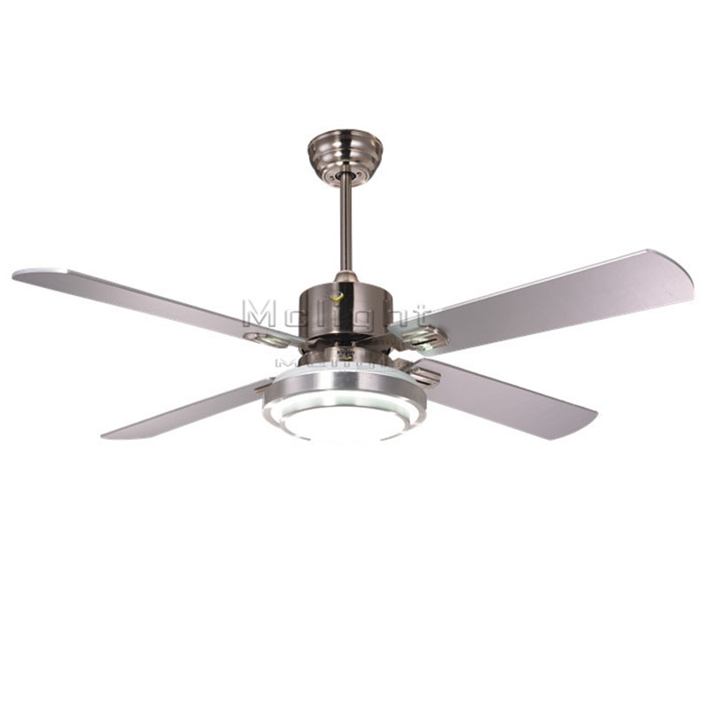Hunter 52 Contemporary Ceiling Fan 3 Coffee Blades: Modern LED Ceiling Fans With 1 Light Kits For Restaurant