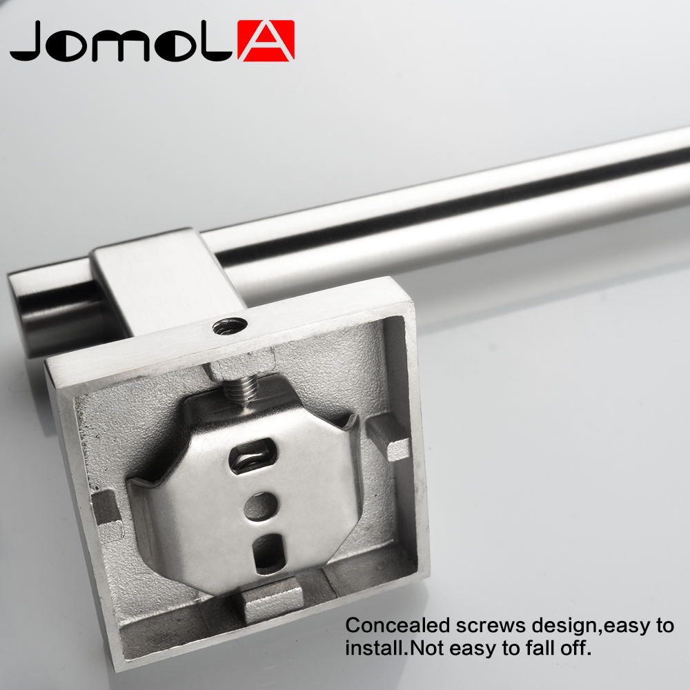 Stainless bathroom accessories - Aliexpress Com Buy Stainless Steel Towel Bar Single Towel Rack Wall Mount Towel Hanger Bathroom Accessories Bath Hardware Jomola_jb S0111 From Reliable
