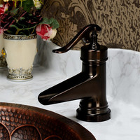 Xueqin Durable Bathroom Faucet Antique bronze finish Brass Basin Sink Mixer Faucet Single Handle Water Tap