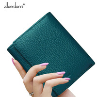 Zuoerdanni 2015 New Arrival Genuine Leather Women Wallet Short Lady Wallets Female Coin Small Purse Handbag