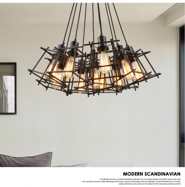 lampara vintage Pendant lights retro hang Industrial Edison Lamps nordic Loft light Fixtures Glass Lustre Industriel Lamp