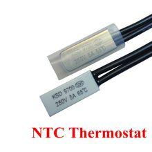 5pcs Thermostat 10C-240C KSD9700 10C 15C 20C 25C 35C Bimetal Disc Temperature Switch N/O Thermal Protector degree centigrade