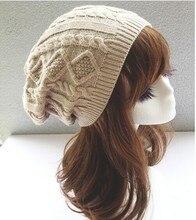 Brand 2015 Fashion Winter Hat Men Beanie Knitted Casual Caps skullies bone Twist Hats For Women Chapeu Feminine Gorro Touca Cap