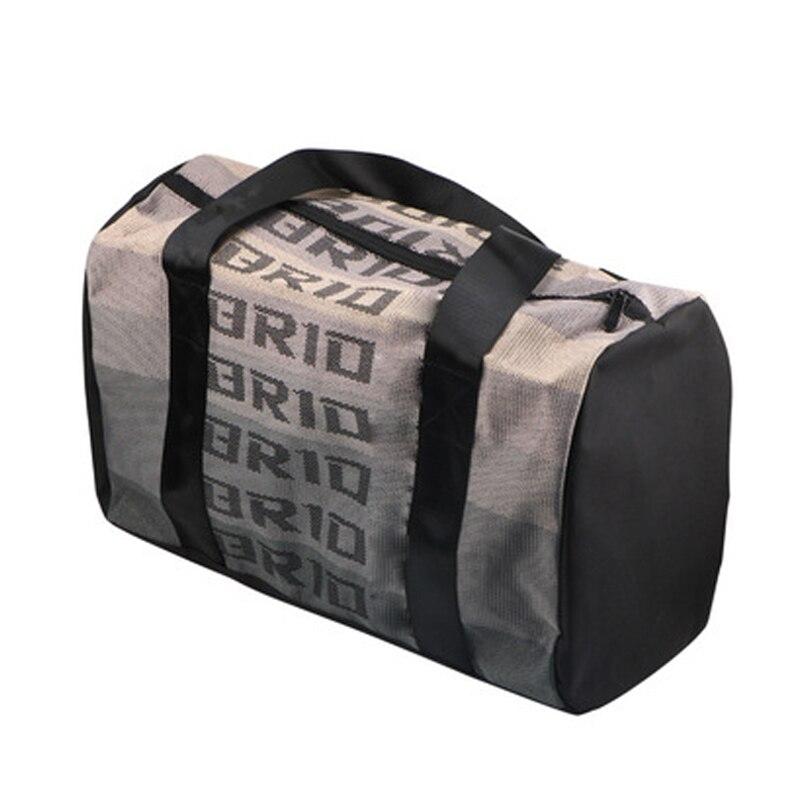New Style JDM  Racing Fabric Tote Backpack Travel Bag Seat Belt Webbing Racing Handbag