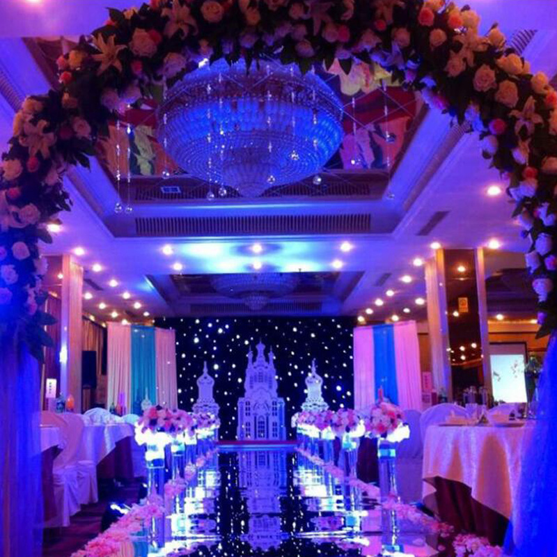 120cmX10 Meter Bi-sided Silver Wedding Mirror Carpet Silver T Stage Carpet Runner 0.12mm Thickness