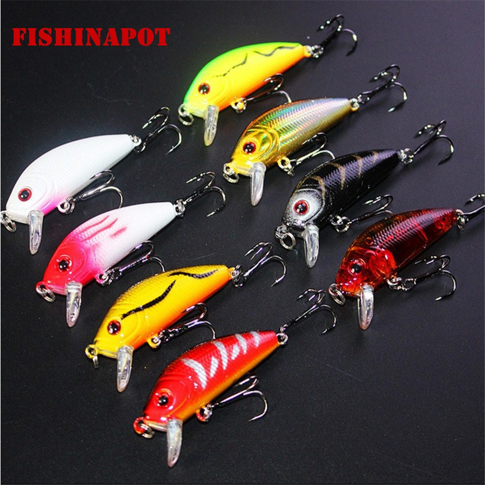 1PCS 5cm 3.6g Topwater Swim Fish Fishing Lure Artificial Hard Bait  Mini Fishing Crankbait Wobblers Carp Fishing With 8# Hooks