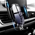 Автомобильный держатель для телефона Baseus  для iPhone 11 Pro Max X 8 Xiaomi Redmi Gravity  крепление на вентиляционное отверстие  автомобильный держатель  моби...