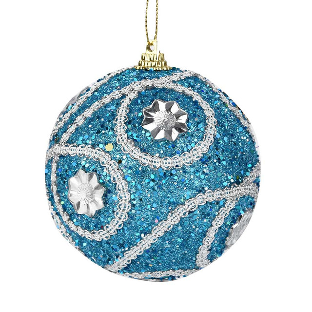 Decorative Colorful Christmas Tree Ball Ornament (1pc)