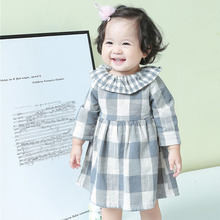 цена на 2019 baby girl clothes spring children clothes plaid cotton princess dress kids dresses for girls 1 2 3 4 5 years girls dress