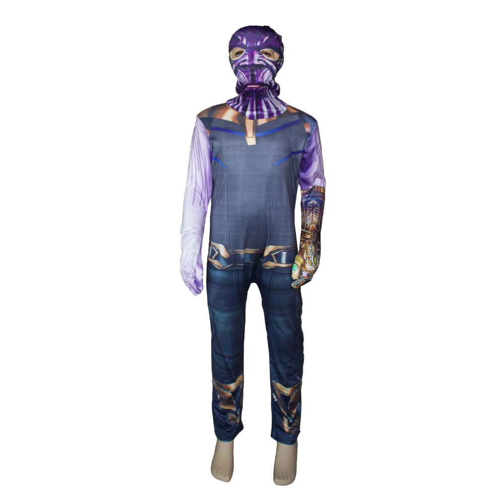 Thanos Cosplay Costumes Boy Thanos Costume For Kids Jumpsuits Infinity War Mask Children Halloween Party Dress Cosplay