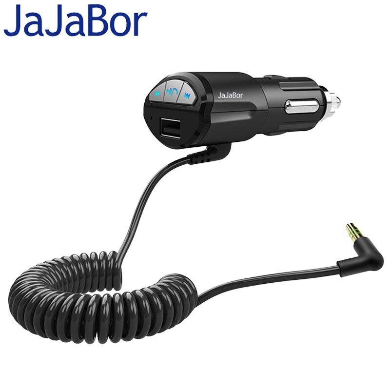 JaJaBor Voiture Kit Mains Libres Bluetooth 3.0 A2DP 3.5mm AUX Stéréo Audio Musique Récepteur Adaptateur DC5V 2.1A USB Chargeur Pour Smart téléphone