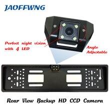 Для автомобиля CCD HD камера заднего вида резервная копия Универсальный камеры Европейский Номерные знаки для мотоциклов Рамки ночное видение со светодиодной камеры