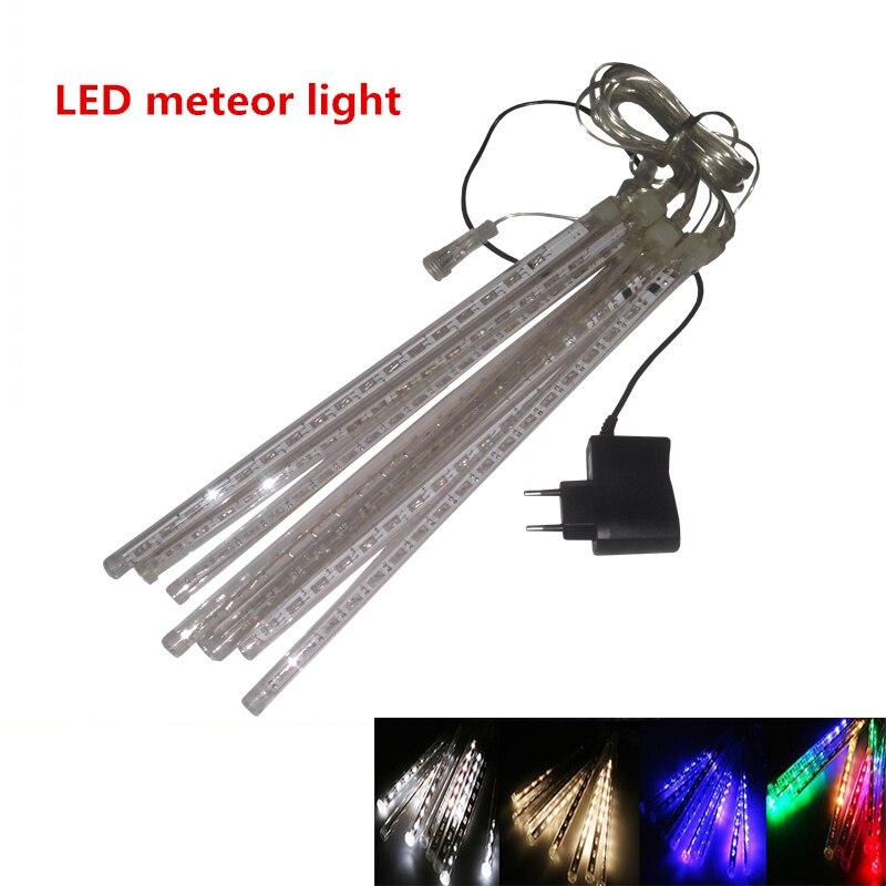 christmas lights led meteor shower lamp 20cm to 8 tube for christmas decoration led lights christmas