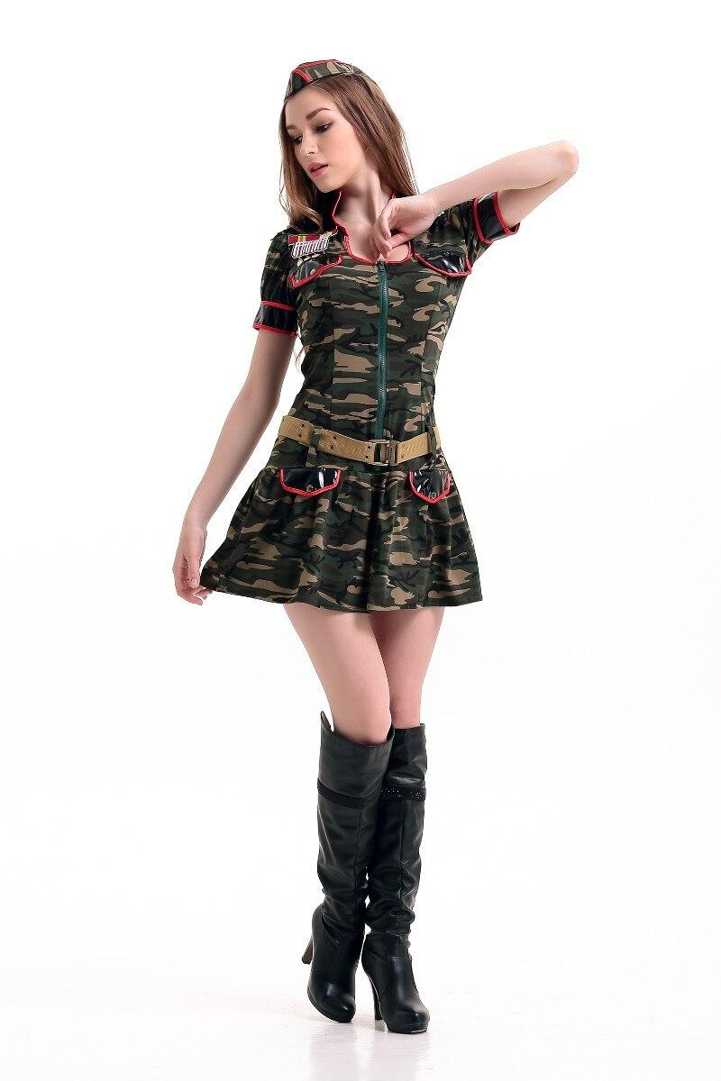 Vocole Sexy Army Soldier Camo Uniform Ladies Fancy Dress -4512