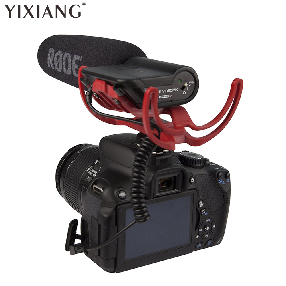 YIXIANG Rode VideoMic Directional Video Condenser Microphone with Mount for Canon Nikon Lumix Sony DJ Osmo DSLR Camera Microfone rode videomicro compact on camera recording microphone for canon nikon lumix sony dji osmo dslr camera microfone i phone 6s