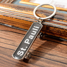 Vicney Germany St. Pauli Theater MINI Scooter Key Chain Zinc Alloy Key Ring For Key Keychain Gift For Best Friend Car Key Chain(China)